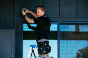 professional technicians can install your security system but most can be done yourself